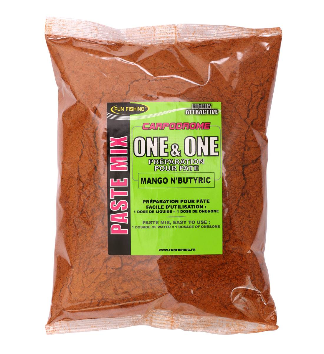 Pâte One&One Fun Fishing Mango N Butyric 500gr