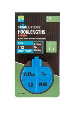 Bas De Ligne Montés Feeder Preston Revaluation Hooklengths N°12-0.17mm(3kg)