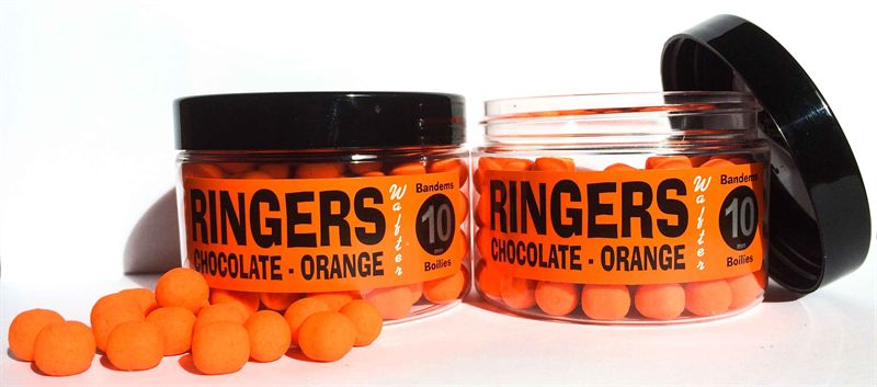 Bandems et Boillies Ringers Baits Wafter-Orange Chocolat  10mm