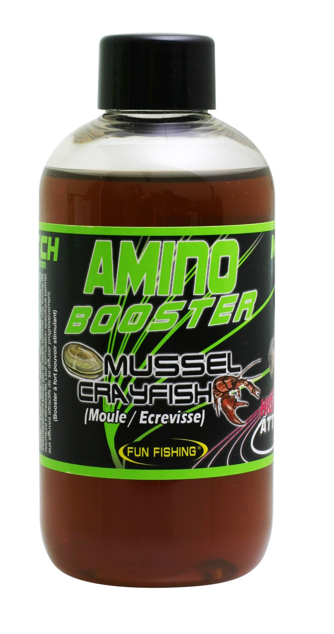 Amino Booster Fun Fishing 185ml Moule Ecrevisse