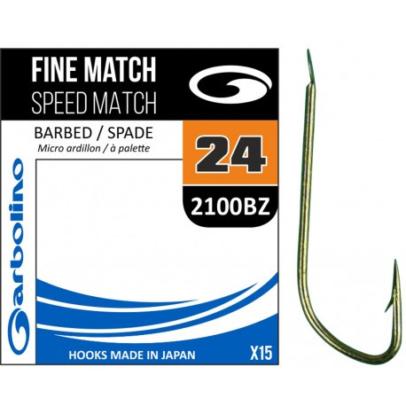 Hameçon Garbolino Fine Speed Match 2100BZ N°16