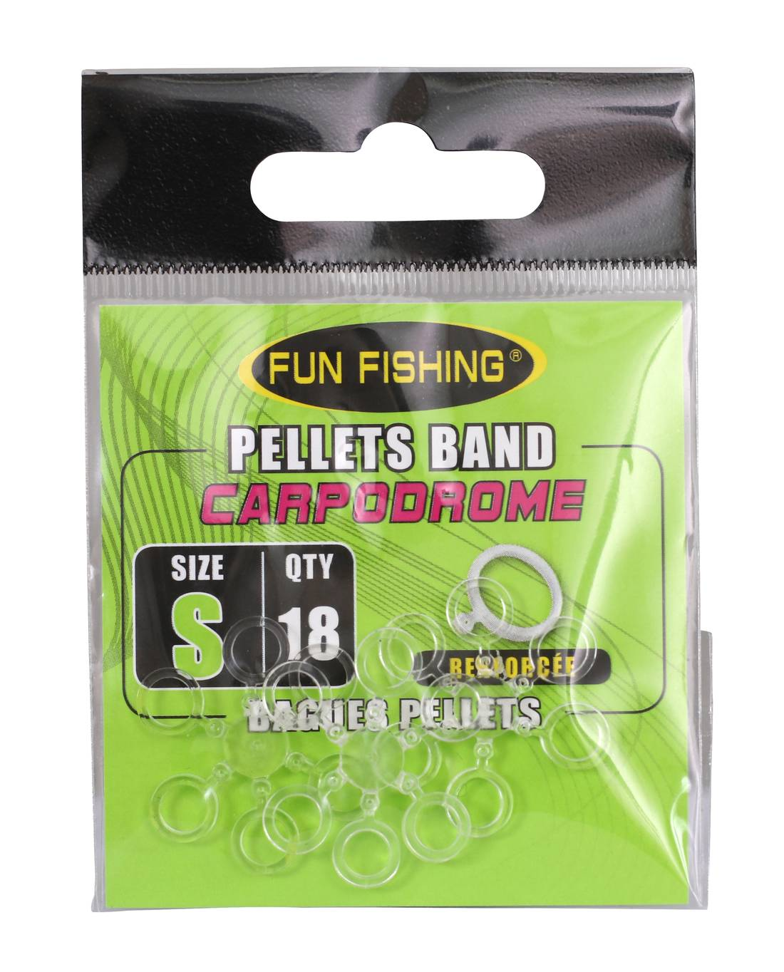 Elastiques Pellets Fun Fishing Bait band Taille S