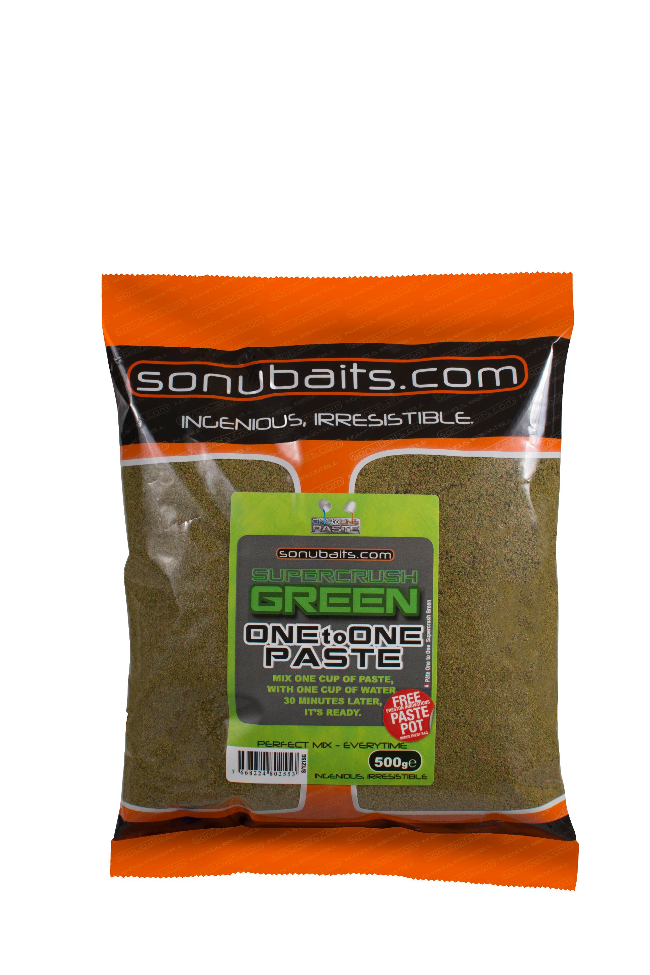 Pâte Sonubaits Green Supercrush One to One - 500gr